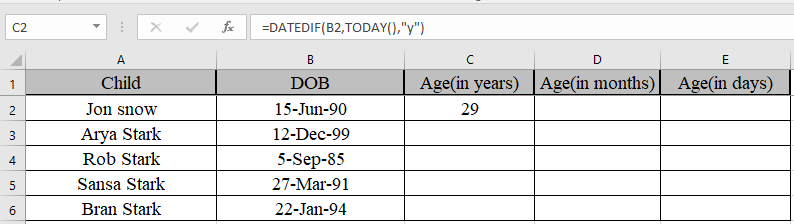 Calculate Years, Months, Days elapsed from a certain date in