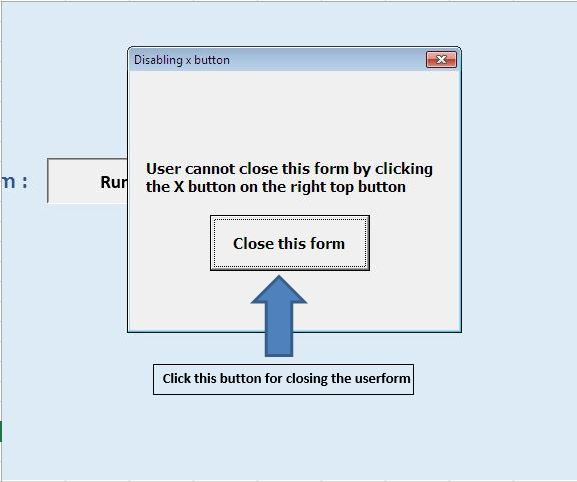 Prevent a userform from closing when the user clicks the x-button ...