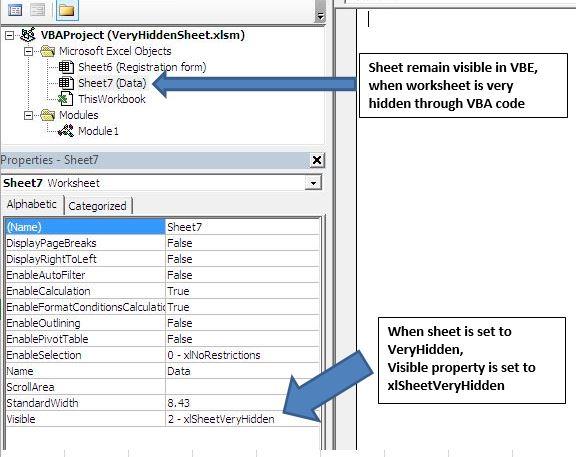 Hide An Excel Sheet Using Vba In Microsoft And. Worksheet. Vba Sheet Very Hidden At Clickcart.co