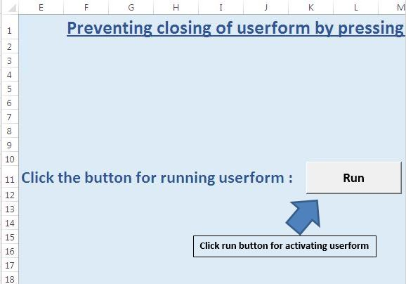 Prevent a userform from closing when the user clicks the x
