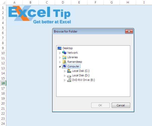 SelectingFolder