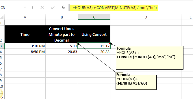 Converting Time to Decimal Values