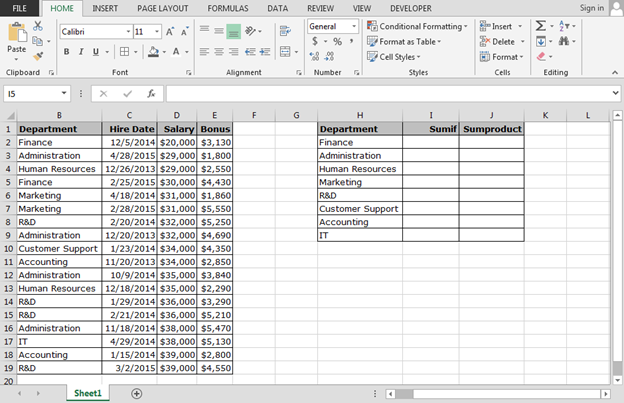 Using Multiple Criteria In Sumif Function Summing