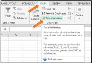 how to show cells with data in excel