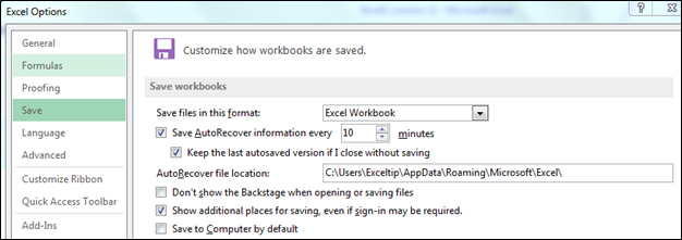 how to get back unsaved excel file