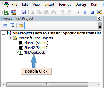 how to transfer specific data from one sheet to another sheet through vba in microsoft excel. Black Bedroom Furniture Sets. Home Design Ideas