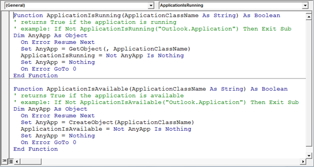 Determine If An Application Is Available Using Vba In Microsoft