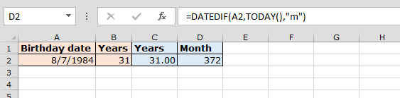how to create a date with count down in excel