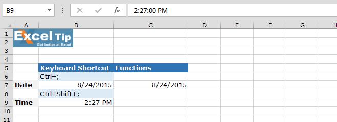 Keyboard Shortcut To Insert Current Date Time Microsoft. Worksheet. Edit Worksheet Name Excel Shortcut At Clickcart.co