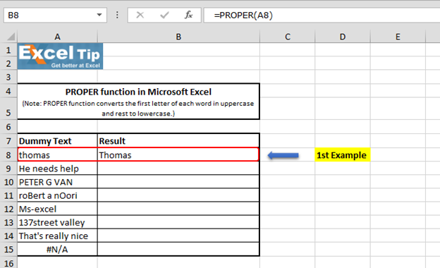 Formula For Excel Take First Letter Of Each Word