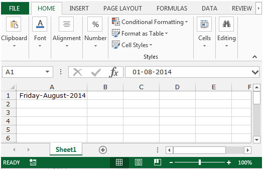 How to change American date format in Excel?