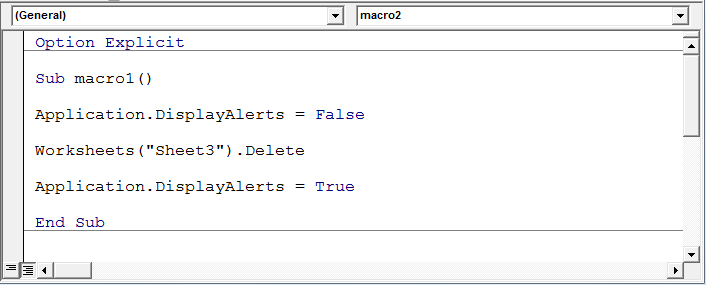Worksheets Delete Worksheet Vba delete sheets without confirmation prompts using vba in microsoft if you have multiple to and are a loop try this code