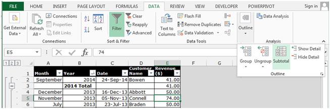 Microsoft Excel Icon 2014