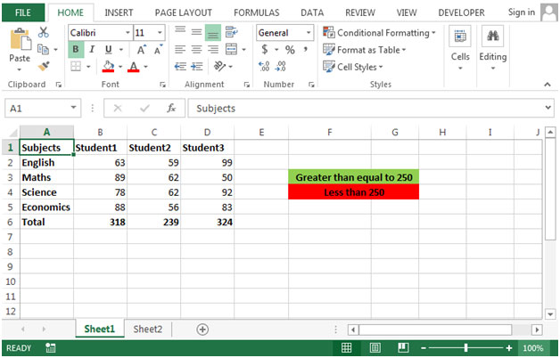 how to get difference of two numbers in excel