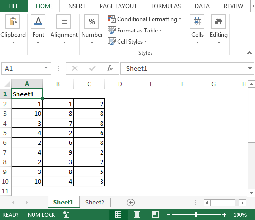 Copy the UsedRange of each sheet into one sheet using VBA in ...