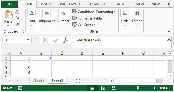 excel vba find minimum value in array   how to find the
