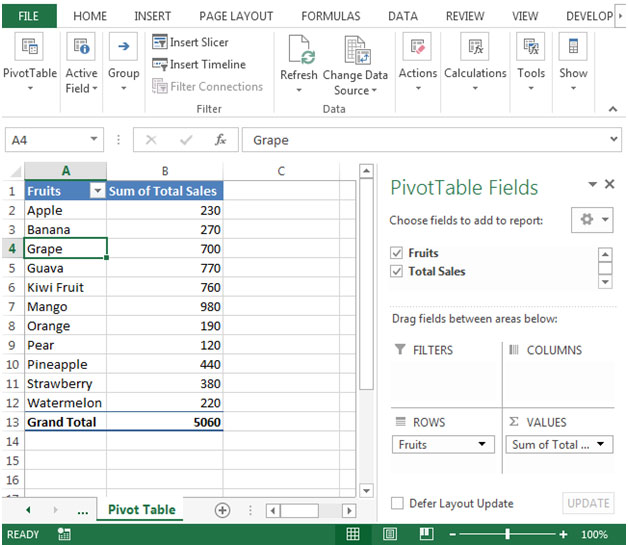 "How To Create Pivot Table In Excel >> ""PivotTable"" report – Grouping Text Fields in Microsoft ..."