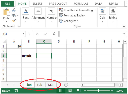 Sum Across Multiple Sheets in Microsoft Excel | Summing