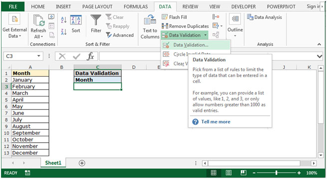 Copying and Pasting Validation list only in Microsoft Excel