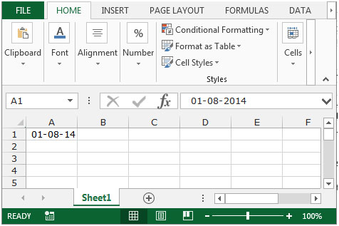 How to change date format in microsoft excel microsoft excel tips cell a1 contains a date we use the each date format one by one spiritdancerdesigns Choice Image
