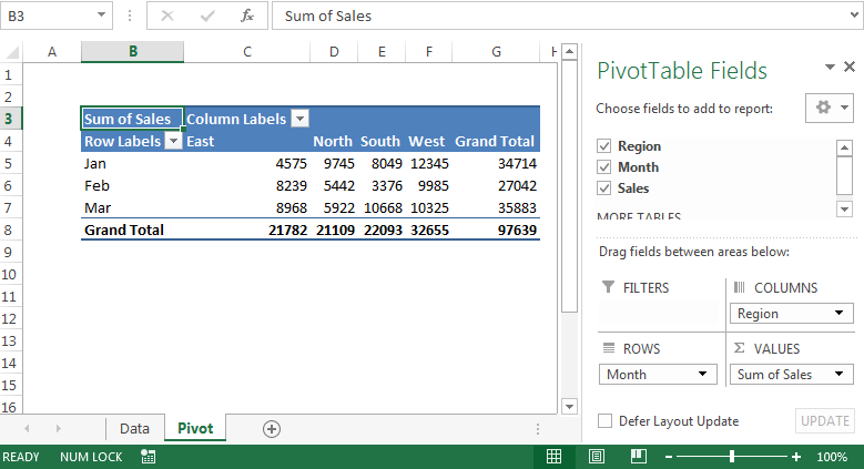 Pivottable Field List Dialog Box In Excel 2007
