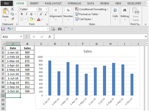 how to get multiple seperate lines on excel graphs
