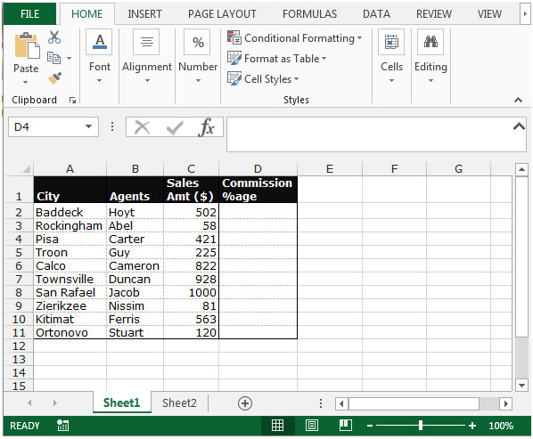 Calculate Commission Percentage Based On A Commission