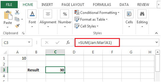 Sum Across Multiple Sheets in Microsoft Excel | Microsoft Excel ...