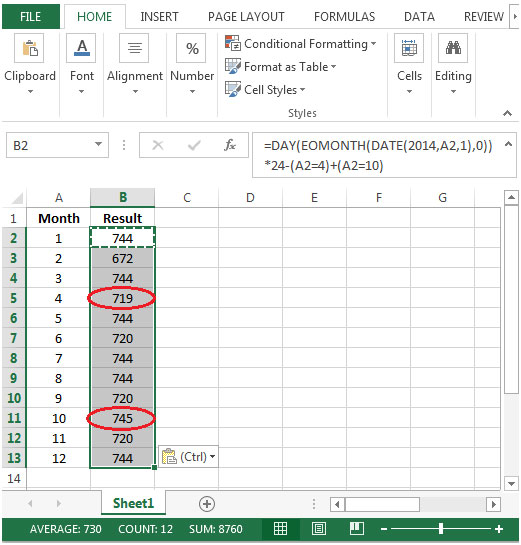Excel formula to calculate number of hours worked for Template to calculate hours worked