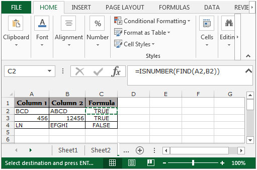 how to use substring in excel