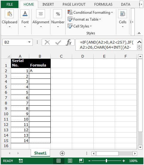 Convert Number To Letter.How To Change Column Number With Letter In Microsoft Excel