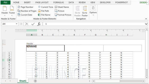 how to put a watermark on excel sheet