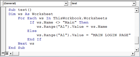 Determine if a sheet exists in a workbook using VBA in Microsoft – Excel Vba Worksheet Name