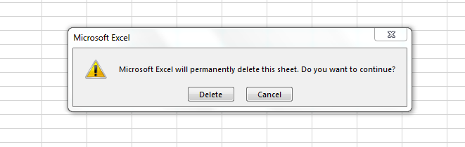 Delete Sheets Without Confirmation Prompts Using VBA In Excel