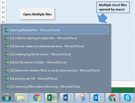 Open multiple files at once