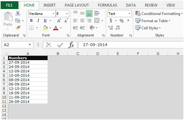 issues excel date formatting