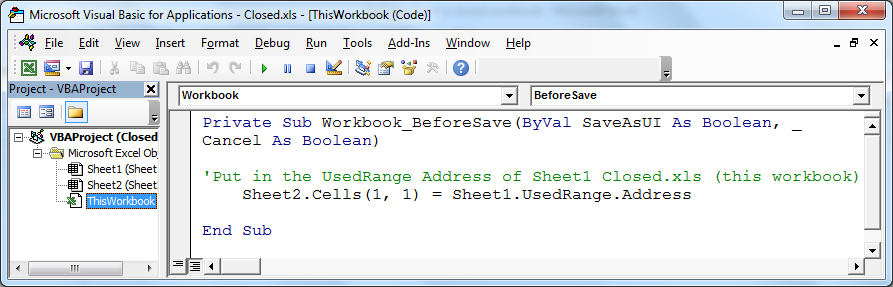 Pull data from a closed workbook