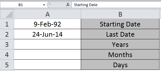 Calculating Number Of Days Months And Years Between Dates In Microsoft Excel 1 month is equal to 0.0833 years. calculating number of days months and