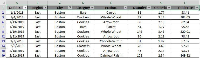 How to Delete only Filtered Rows without the Hidden Rows in