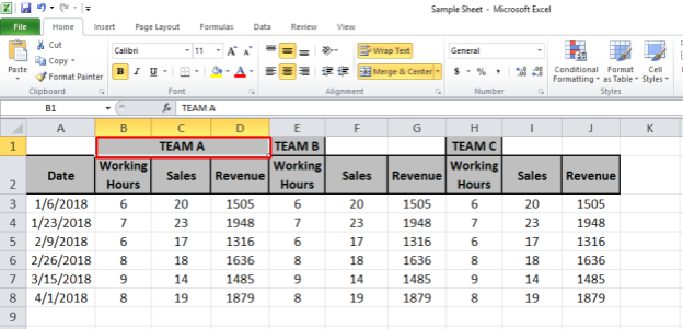 Excel Shortcut Keys for Merge and Center| Excel Tips