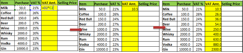 How to Calculate VAT in Excel