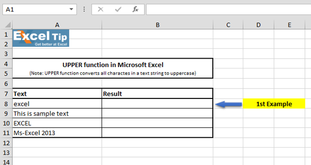 How to use UPPERCASE function in Microsoft Excel | Microsoft Excel ...