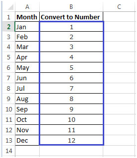 Excel Column Letter To Number Table
