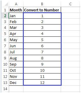 Get Excel Column Number From Letter