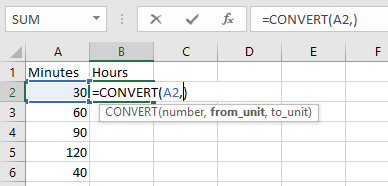 Convert Number of Minutes to Hours and Minutes in Microsoft