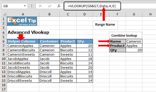 Advance Vlookup In Microsoft Excel Microsoft Excel Tips From Excel