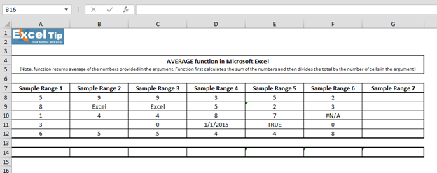 Average function in microsoft excel tips image 1 freerunsca Images