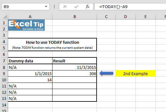 how to add current date to excel