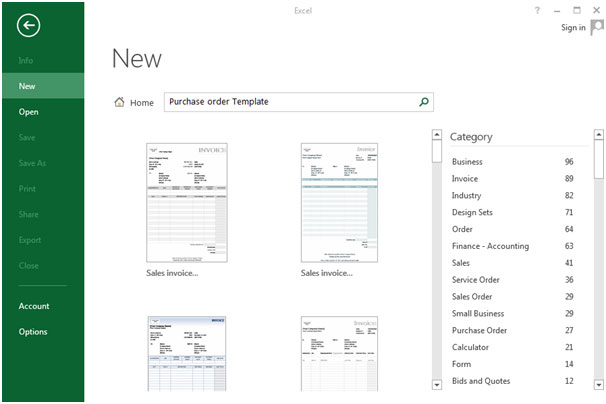 ... Excel Will Search So Many Purchase Order Templates. Img2  Microsoft Excel Purchase Order Template