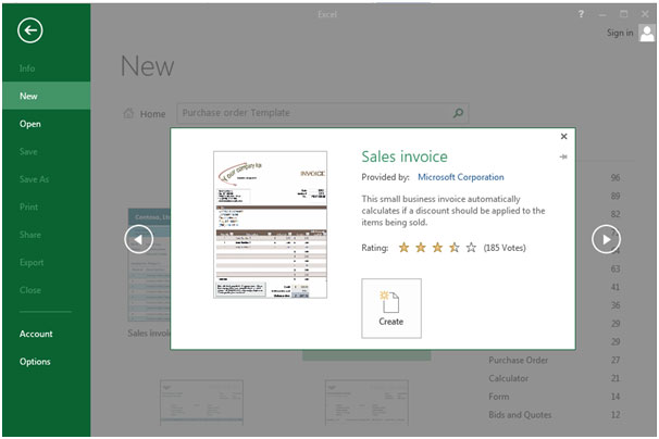 how to create a purchase order in excel